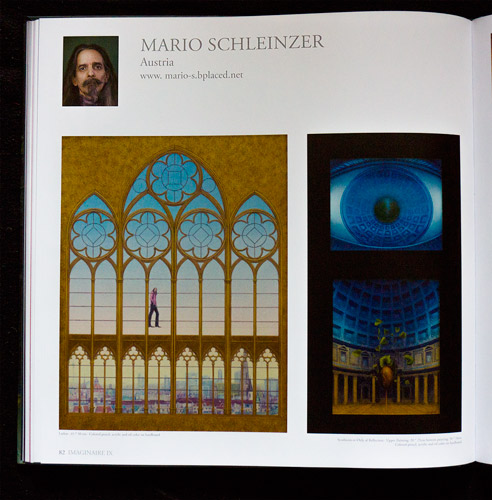 """""""Imaginaire IX"""" book page 1 of the artworks of Mario Schleinzer"""